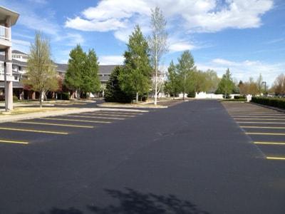 A large parking lot